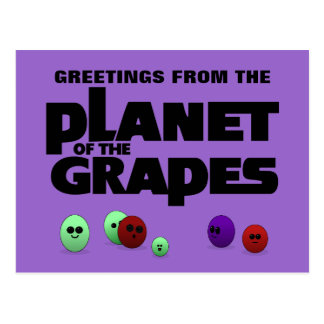 Planet of the Grapes Postcards