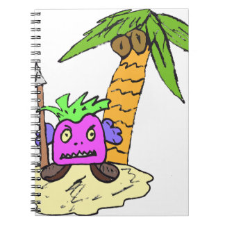 Planet of the Grapes Spiral Notebook