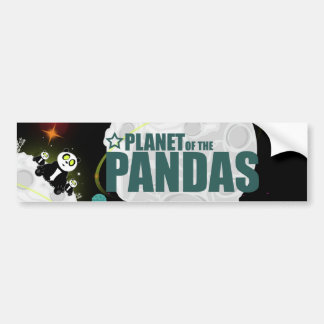 Planet Of The Pandas Bumper Stickers