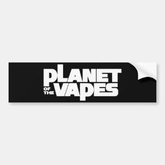 Planet of the vapes car bumper sticker