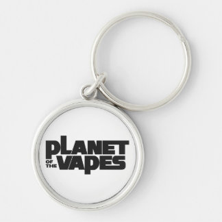 Planet of the vapes Silver-Colored round keychain