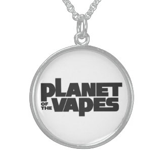 Planet of the vapes round pendant necklace
