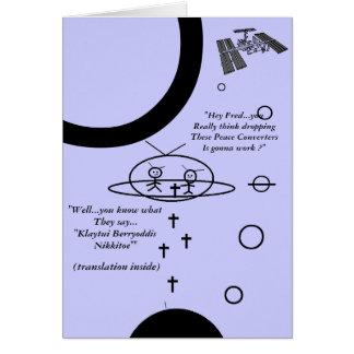 "Planet Oil ""Alien Invasion 2"" Card"