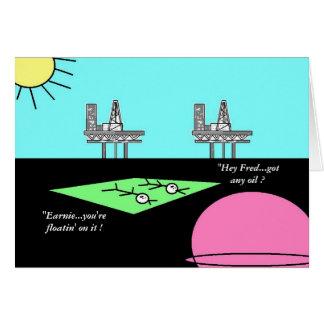 "Planet Oil ""Alien Invasion 7"" Card"