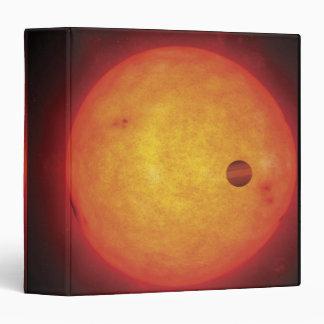 Planet Orbiting Star 3 Ring Binder