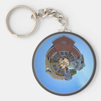 Planet Oxnard Harbor Houses Basic Round Button Keychain