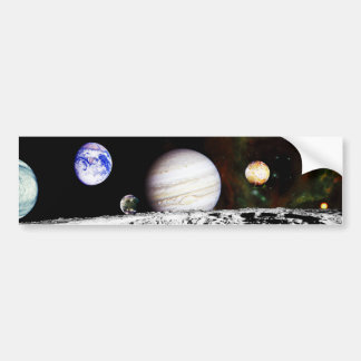 Planet Panorama from the Surface of the Moon Car Bumper Sticker