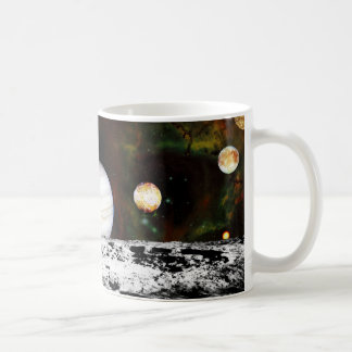 Planet Panorama from the Surface of the Moon Mug