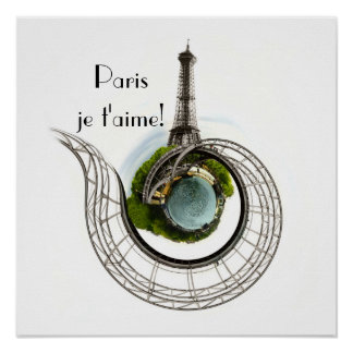 Planet Paris - The Eiffel Tower Poster