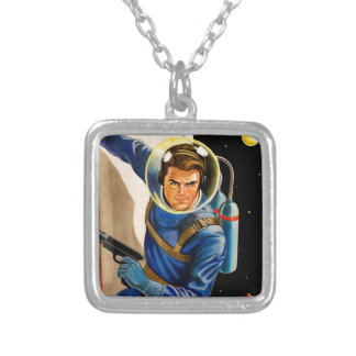 PLANET PATROL SILVER PLATED NECKLACE