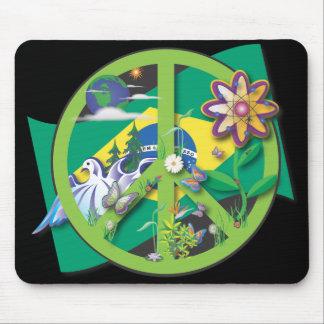 Planet Peace Brasil Mouse Pad