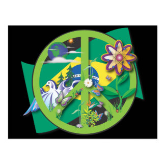 Planet Peace Brasil Postcard