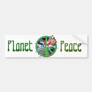 Planet Peace Car Bumper Sticker