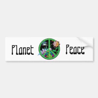 Planet Peace Bumper Sticker