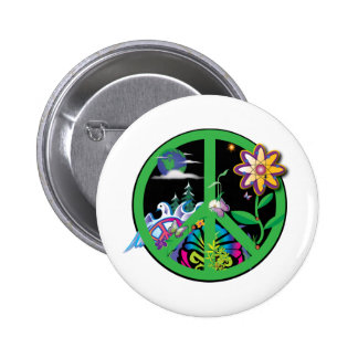 Planet Peace 2 Inch Round Button