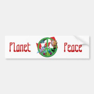 Planet Peace CA Car Bumper Sticker