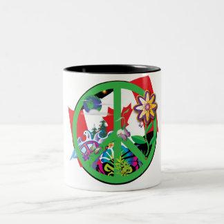 Planet Peace CA Two-Tone Coffee Mug