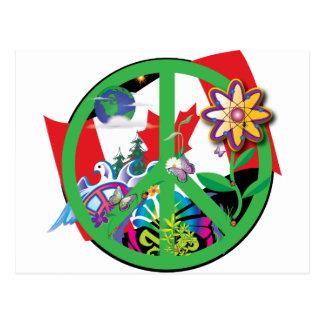 Planet Peace CA Postcard