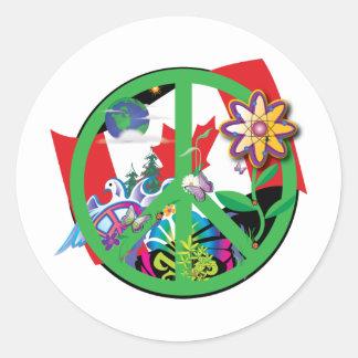 Planet Peace CA Classic Round Sticker