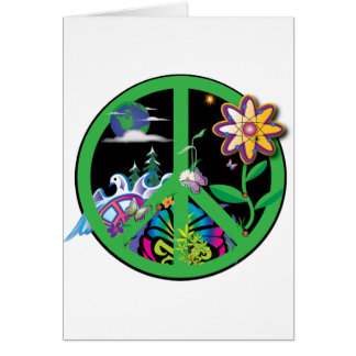 Planet Peace Greeting Card