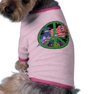 Planet Peace Doggie T Shirt