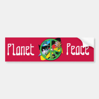 Planet Peace Germany Bumper Sticker