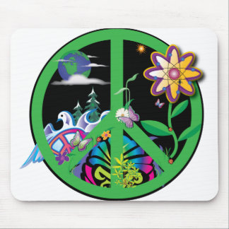 Planet Peace Mouse Pad
