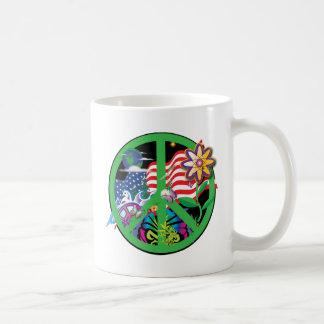 Planet Peace Classic White Coffee Mug