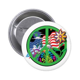 Planet Peace Pinback Button