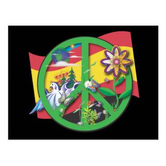 Planet Peace Spain Postcard