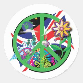 Planet Peace Classic Round Sticker