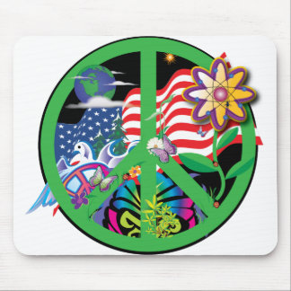 Planet Peace US Mouse Pad