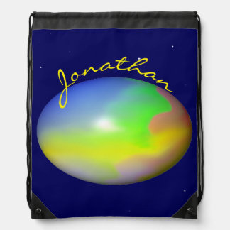 Planet Personalized Cinch Bags