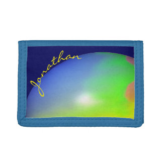 Planet Personalized Tri-fold Wallet