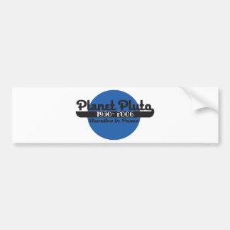 Planet Pluto Bumper Sticker