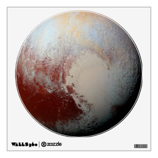 Planet Pluto by New Horizons Round Wall Decal