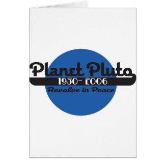 Planet Pluto Card