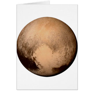 PLANET PLUTO - HAVE A HEART! (solar system) ~ Greeting Card