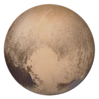 PLANET PLUTO: HAVE A HEART! (solar system) ~ Dinner Plate