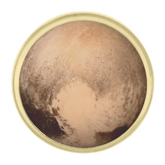 PLANET PLUTO: HAVE A HEART! (solar system) ~ Gold Finish Lapel Pin