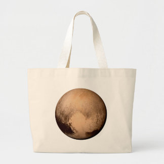 PLANET PLUTO - HAVE A HEART! (solar system) ~ Large Tote Bag