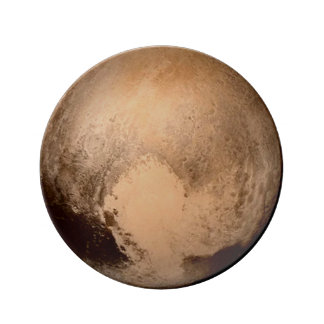 PLANET PLUTO: HAVE A HEART! (solar system) ~ Plate