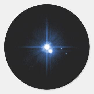Planet Pluto moon Charon NASA Classic Round Sticker