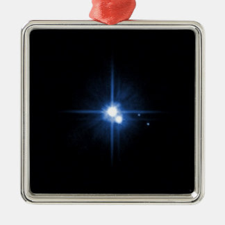 Planet Pluto moon Charon NASA Metal Ornament