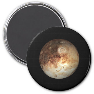 PLANET PLUTO natural ( solar system) ~ 3 Inch Round Magnet