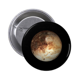 PLANET PLUTO natural ( solar system) ~ 2 Inch Round Button