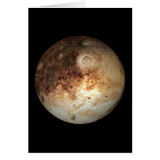 PLANET PLUTO natural ( solar system) ~ Greeting Card