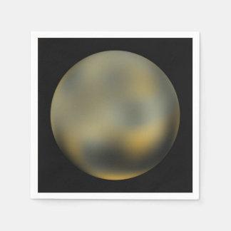 Planet Pluto Paper Napkins