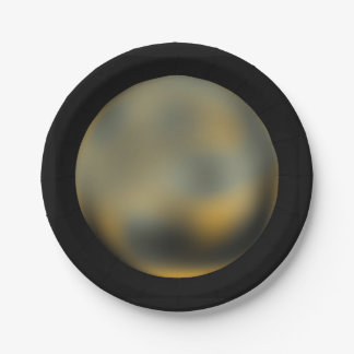 Planet Pluto Paper Plates 7 Inch Paper Plate