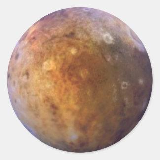 PLANET PLUTO (solar system) ~ Classic Round Sticker